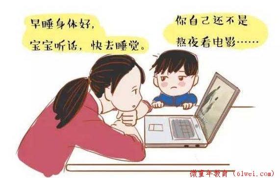 """在家也要""""谨言慎行"""",家长的这几个坏习惯,最容易被孩子模仿!"""