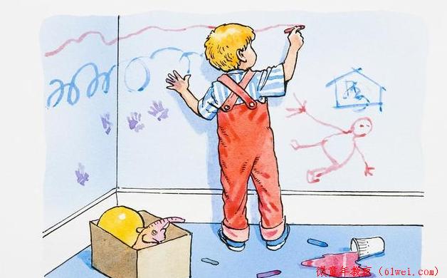孩子自由涂鸦是好事别阻止,家长做好这5点,对孩子成长更有利